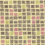 Moda Soho Chic - 2945 - Brown, Plum & Green Square Geometric Print - 17744-22 Cotton Fabric